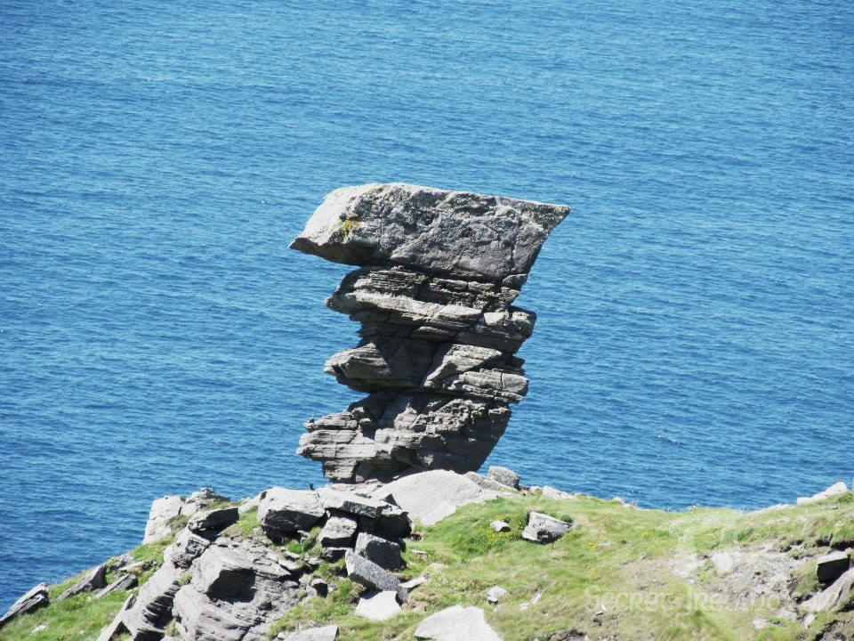 The curious rock formation from which Hag's Head gets it's name