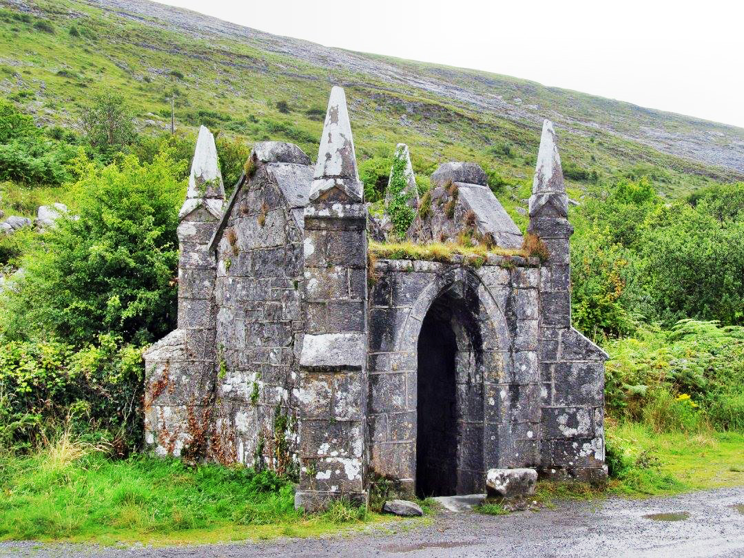 Tobercornan Well, near Ballyvaughan, with Gothic Revival shelter built over it in 1860