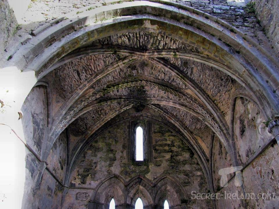 Stone vaulted roof of the choir